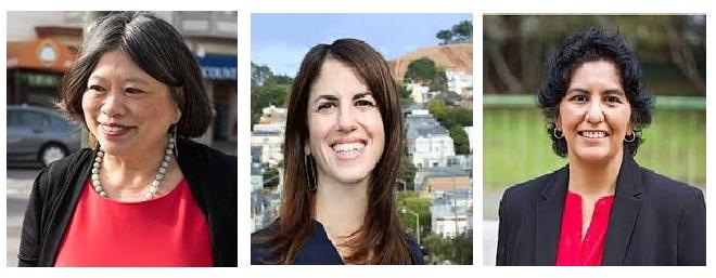 Sandra Fewer, Hillary Ronen, Kim Alvarenga